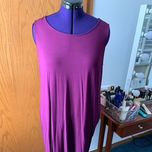 Purple knit dress LOFT 20/22